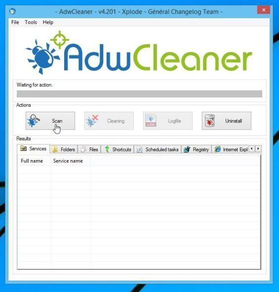 برنامج Adwcleaner-Scan