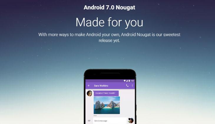 اندرويد Nougat 7.0